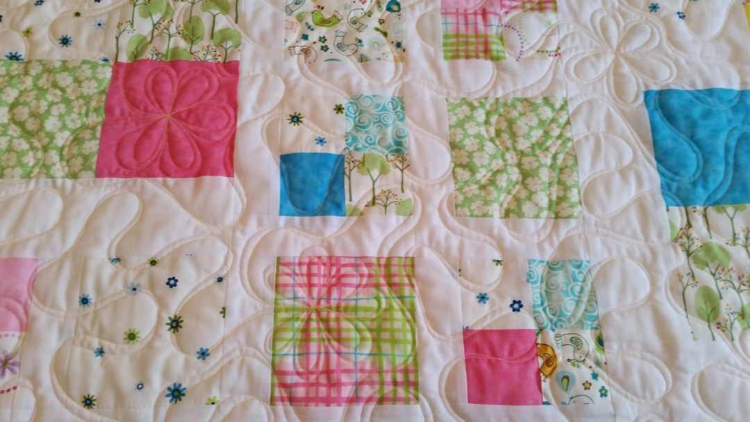 Two Color Ribbon Quilting