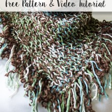 Dark Forest Knitted Scarf and video tutorial