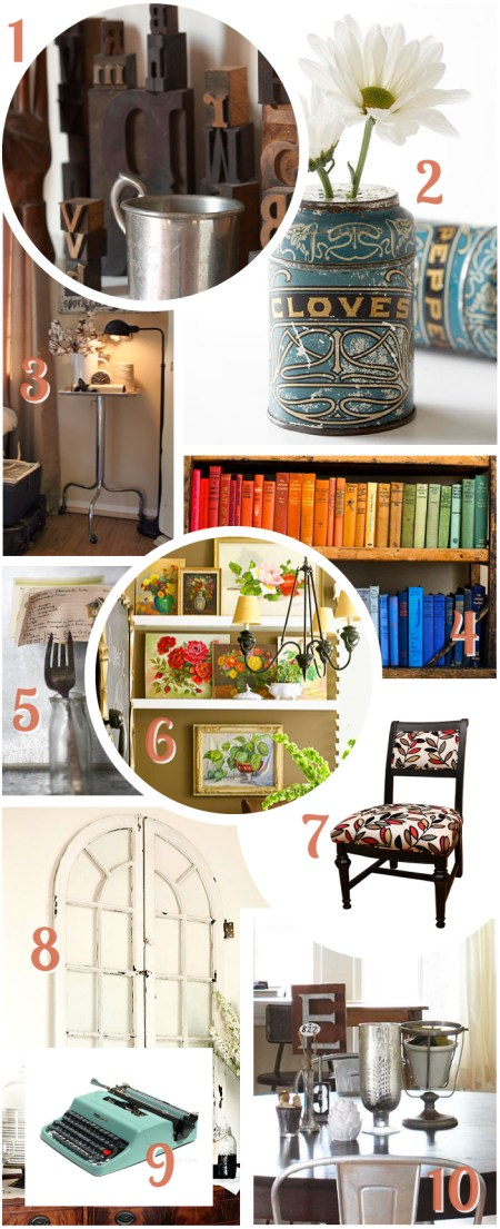 Decorating with flea market finds - Crafty Whatnot