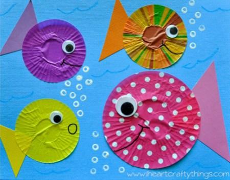 Cupcake Liner Fish Pin