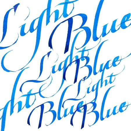 light blue calligraphy ink