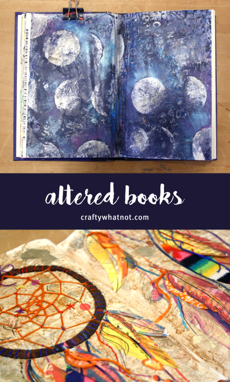 altered books | craftywhatnot.com
