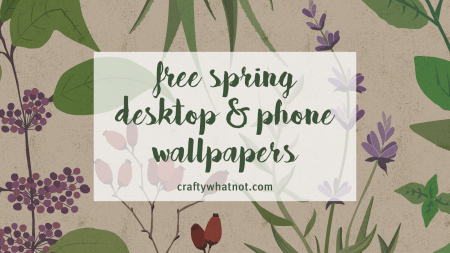 spring wallpaper from craftywhatnot.com