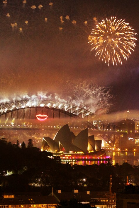 New Years Eve Fireworks over Sydney Harbour