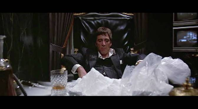Rupert is taking business advice from Tony Montana