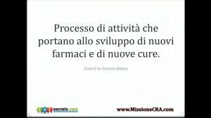 La definizione di Ricerca Clinica secondo Stefano Lagravinese