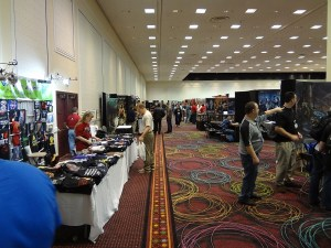 Sparse crowd is typical at the GAMA Trade Show