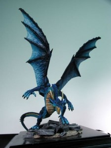 Reaper Miniatures Gauth dragon rearing up on its hind legs.