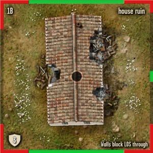 Ruined House 4x4 tile for Spearpoint beautifully detailed by Marc von Martial