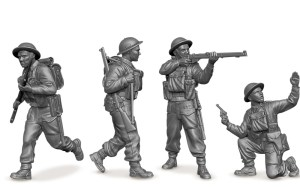 Plastic Zvezda 1/72nd miniature British Infantry WWII soldiers.