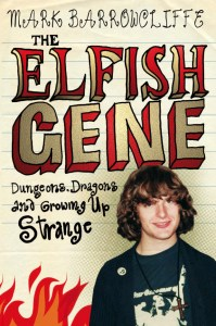 Geeky teenaged Mark Barrowcliffe on the cover of his memoir The Elfish Gene