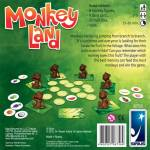 Brown monkey playing pieces and fruit cards for Monkeyland board game by Reiner Knizia
