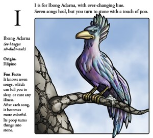 Phillipines Ibong Adarna mythical bird illustration from Monster Alphabet