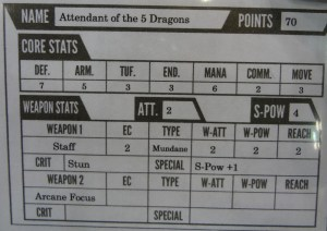 Photograph of game card for Collision for Attendant of the 5 Dragons