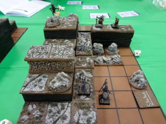Gridded Game Board for Miniature Game Collision at Gen Con 2012