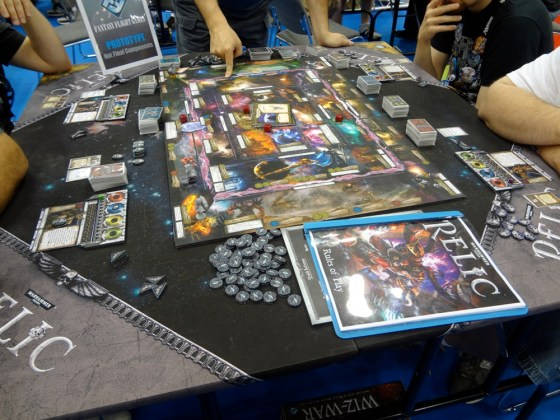 Board game Relic from Fantasy Flight Games at Gen Con based on Warhammer 40K universe