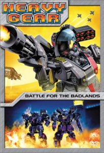 Heavy Gear Battle for the Badlands DVD Cover with Mecha Gears