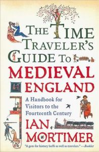 Book cover with medieval illumination for TIme Traveller's Guide to Medieval England