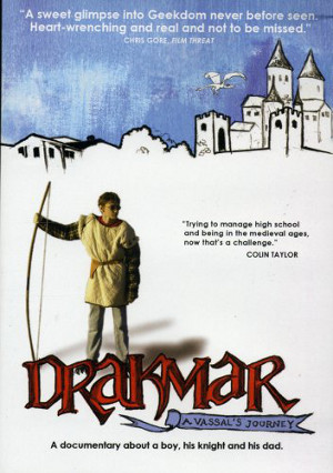 14-year old Colin Taylor with longbow on cover of Drakmar A Vassal's Journey