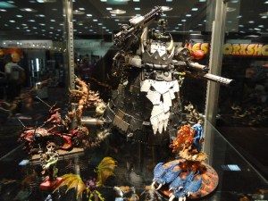 Beautiful painted Warhammer 40k miniatures in GW display case