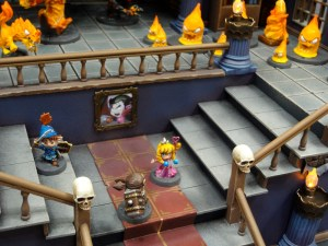 Soda Pop Miniatures Chibi Super Dungeon Explore miniatures display castle at Cool Mini or Not Booth