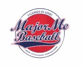 Trademark logo Major Me Baseball 3 Games in One