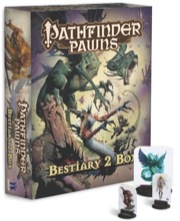 Cover of Pathfinder Bestiary Box 2 with pawns out front on white background