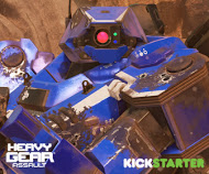 Heavy Gear Assault Blue Hunter Advertising on Kickstarter