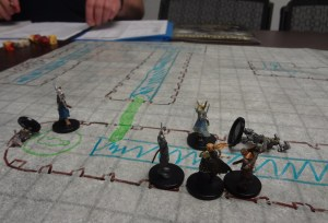 Pathfinder Miniatures on Flipmat in Pathfinder Adventure The Veteran's Vault