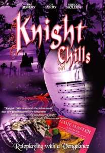 DVD cover of Knight Chills Roleplaying with a Vengeance with a knight's great helm in the foreground