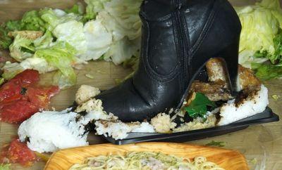 野菜に惣菜、フルーツ、ご飯とごちゃまぜで踏み潰すフードクラッシュ!