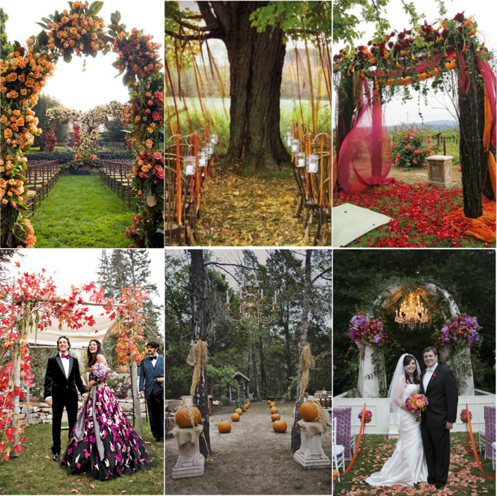 Indoor Wedding Altar Decoration Ideas: Fabulous Fall Wedding Altars: From Rustic To Glam