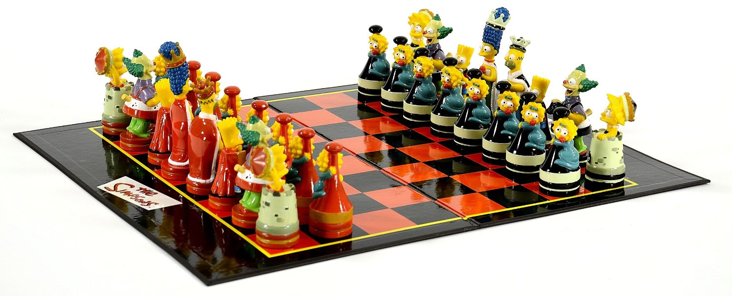 Geek Toys For Grown Ups : Crazy geek toys simpsons chess game