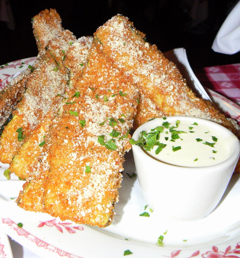 Maggiano's Fried Zucchini with Lemon Dip (1/6)