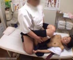 【ガチレイプ動画】整体師の鬼畜な犯行!腰の治療に来た女子中●生を診察台の上で処女膜破壊レイプ・・・