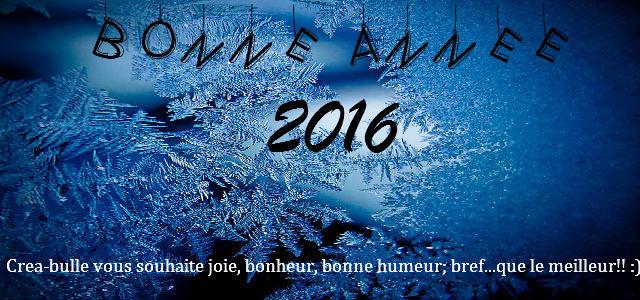 Nous y voilà: le 1 janvier 2016 !
