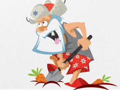 Корпоративный персонаж для замороженных овощей