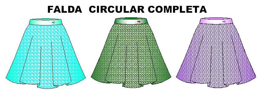 Molderia de faldas circulares