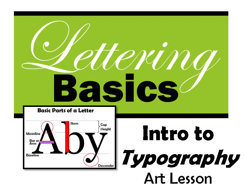 Intro to Typography - Lettering Basics Lesson Plan (Lesson 1)