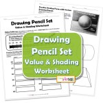 Drawing Pencil Set Value Shading Worksheet