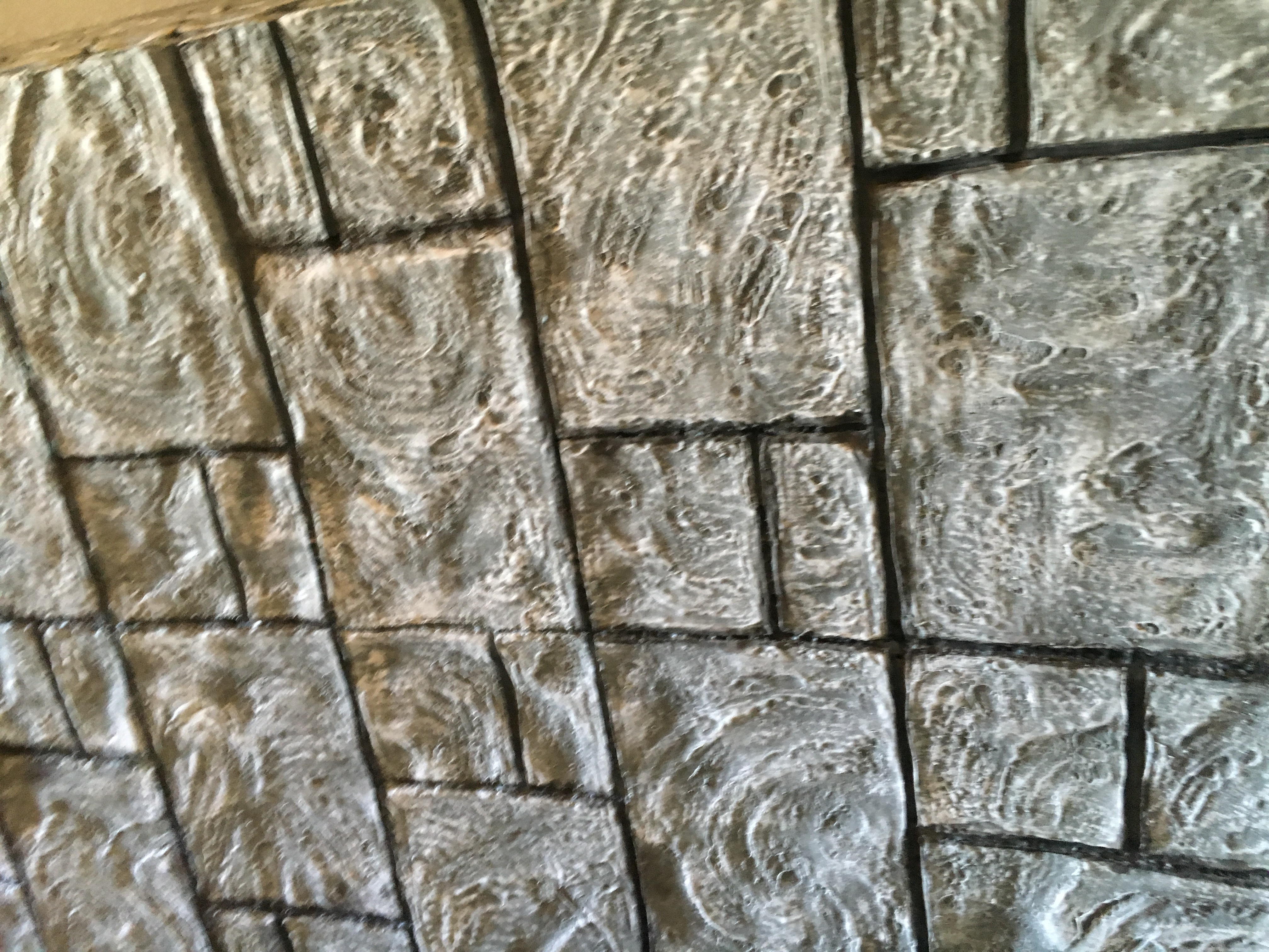 Faux stone wall insulation foam sheet create art with me for Rock wall insulation