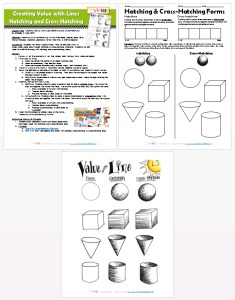 value with line hatching cross hatching lesson plan worksheet. Black Bedroom Furniture Sets. Home Design Ideas