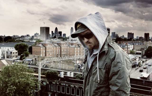 The Bug in London, a city with a deep influence on his sound. Yeah, except he did manage to bail for Berlin for a place with greater potential. Photo courtesy Ninja Tune.