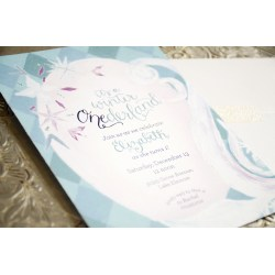 Luxurious Frozen Inspired Winter Onederland Wonderland Birthday Invitation Fromyour New Friend Sam On Etsy Birthday Invitation Sam Allen Creates Winter Onederland Invitations Winter Onederland Invitat invitations Winter Onederland Invitations