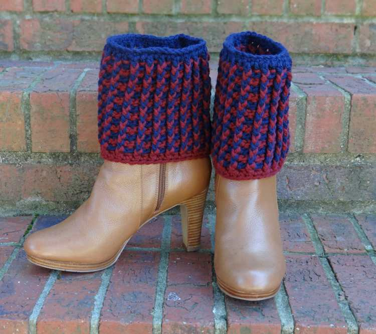 Ribbed Boot Cuffs crochet pattern