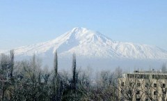 Mount Ararat seen from the city of Yerevan