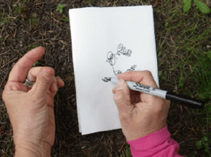 Drawing with the textures of your hand