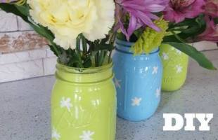 DIY Mason Jar Vases for Spring