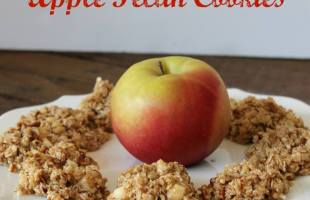 No Bake Oatmeal Apple Pecan Cookies