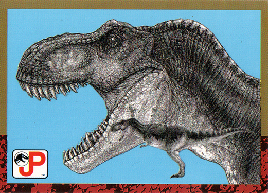 Jurassic Park Topps Trading Card T-Rex
